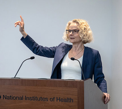 Dr. Volkow gives the keynote address